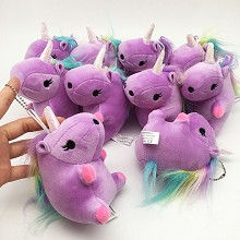 6inches unicorn plush dolls set(10pcs a set)