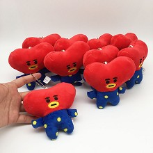 4inches BTS TATA plush dolls set(10pcs a set)