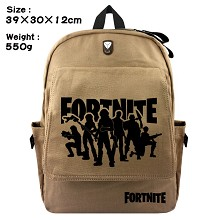 Fortnite canvas backpack bag