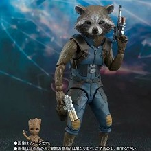 Guardians of the Galaxy SHF Rocket and Groot figur...