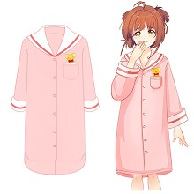 Card Captor Sakura anime cotton long sleeve pajamas nightgown
