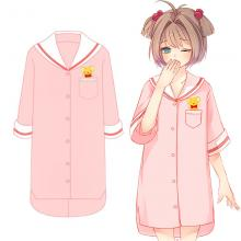 Card Captor Sakura anime cotton short sleeve pajamas nightgown