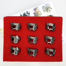 Attack on Titan anime rings set(9pcs a set)