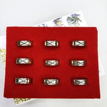 Dragon Ball anime rings set(9pcs a set)
