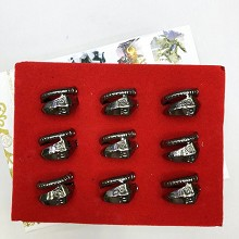 Naruto anime rings set(9pcs a set)