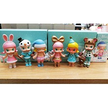 Molly anime figures set(6pcs a set)