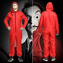 La casa de papel cosplay cloth dress costume(no mask)