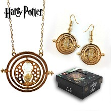 Harry Potter necklace+earrings a set