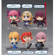 Fate Grand Order anime figures set(6pcs a set)
