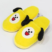 BTS plush shoes slippers a pair 27CM