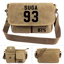 BTS 93SUGA canvas satchel shoulder bag