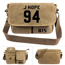 BTS 94J HOPE canvas satchel shoulder bag