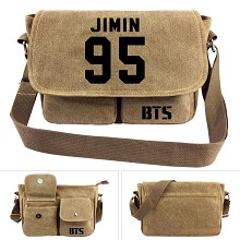 BTS JIMIN canvas satchel shoulder bag