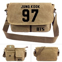 BTS JUNG KOOK canvas satchel shoulder bag