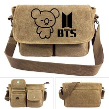 BTS canvas satchel shoulder bag