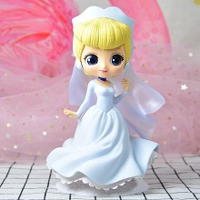Qposket Disney Princess anime figure blue