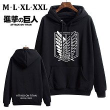 Attack on Titan anime thick cotton hoodie cloth co...