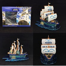 One Piece Marine ship boat anime model figure