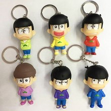 Osomatsu-san anime figures key chain set(6pcs a se...