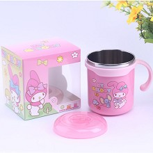 Melody cartoon 304 stainless steel cup mug