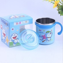 Doraemon cartoon 304 stainless steel cup mug