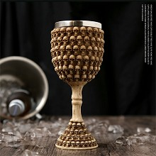 Stainless Steel 3D Skull Skeleton Gothic Goblet Party Glass Cup