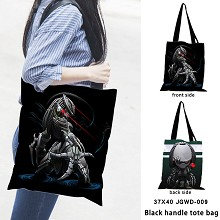 Predator black handle tote bag shipping bag
