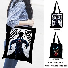 Venom anime black handle tote bag shipping bag