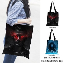 Justice League black handle tote bag shipping bag