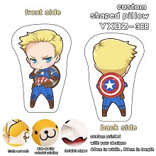 Captain America custom shaped pillow