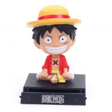 One Piece Luffy shake head anime figure
