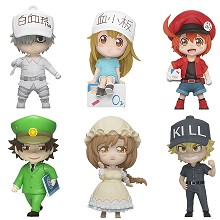 Cells At Work anime figures set(6pcs a set)
