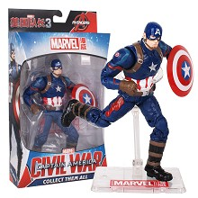 7inches The Avengers Civil War Captain America fig...