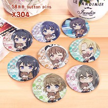 The other anime brooches pins set(8pcs a set)