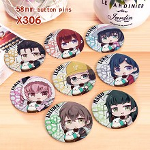 Fate anime brooches pins set(8pcs a set)