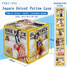 One Piece anime squar velvet pollow case pillow