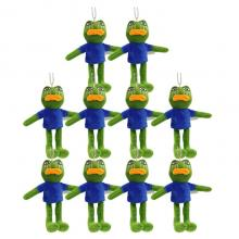 5inches Sad Frog plush dolls set(10pcs a set)