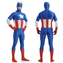 Captain America cosplay tight suit cloth