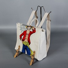 One Piece Luffy anime canvas backpack bag