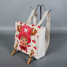One Piece Chopper anime canvas backpack bag