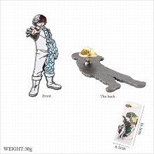 My Hero Academia Todoroki Shoto anime brooch pin