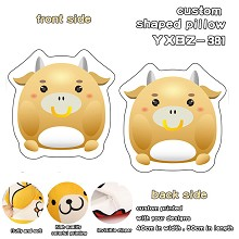 12 Chinese Zodiac Signs Ox custom shaped pillow