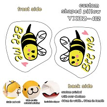 The honeybee custom shaped pillow