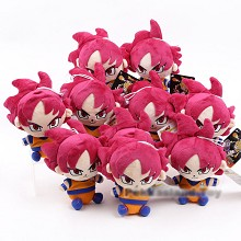 8inches Dragon Ball Goku anime plush dolls set(10p...