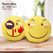 The face round pillow