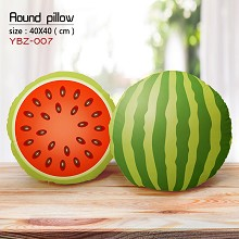 The watermelon round pillow
