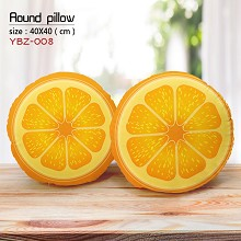 The orange round pillow