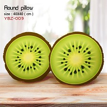 The kiwi fruit round pillow