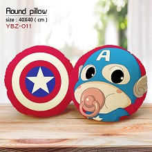 Captain America round pillow