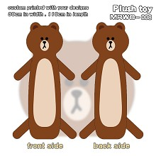 Bear Brown anime long plush doll